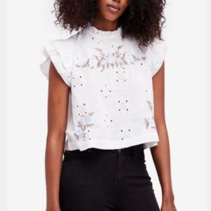Free People Tops - BLACK FP Peasant Blouse